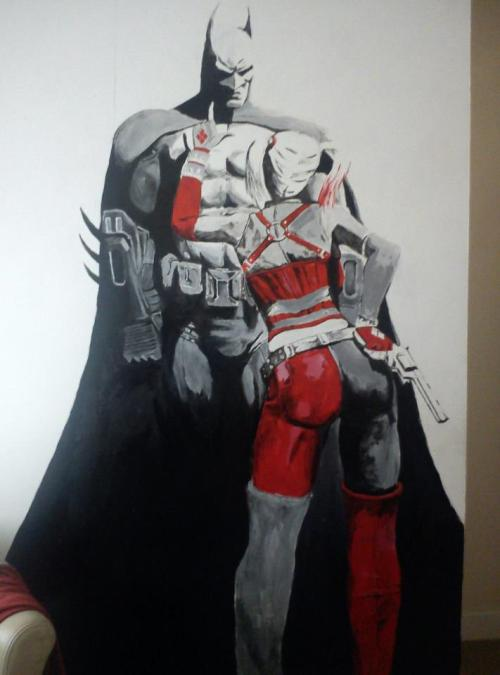 So my friend just finished his Arkham City painting in his bedroom…