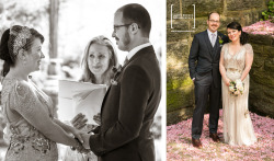 KELLY & WILL GET MARRIED (Part 2): I first previewed this wedding at the end of May 2012, primarily focusing on the wedding couple and those in the wedding party.Here, I share a few more shots of the bride and groom, leading with a favorite of mine — a B&W digital infrared portrait of Kelly and Will with the George Washington Bridge in the distant background. Then, I lend my focus to the design details, more moments and other characters that combined for beautiful day. [Review Part 1 of this wedding]VENUE: New Leaf Restaurant & Bar in Fort Tryon Park (Upper Manhattan)  OFFICIANT: Rev. Jeddah VailakisPLANNER: Adrienne Colosimo, Bespoke AffairsFLOWERS: Sprout HomeSWEETS: Kumquat CupcakeryDJ: Dave Fischoff from Popshop DJ