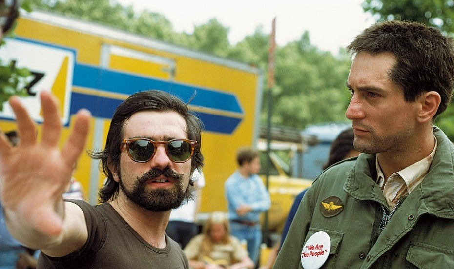 One of my favorite Directors.  Martin Scorsese with Robert De Niro.