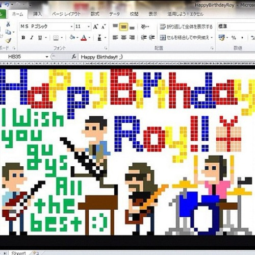 HAPPY BIRTHDAY ROY!!! You are the best! (Artwork courtesy of our wonderful Japanese fan @kykfr81 )    (Taken with Instagram)