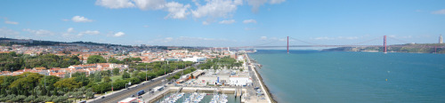 Another panoramic! View from Padrão do Descobrimentos (Monument to the Discoveries).