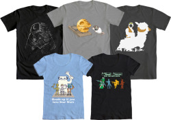 welovefineshirts:  WE LOVE FINE WEDNESDAY LOVES OUR STAR WARS CONTEST WINNERS! One of these five outstanding winners from our first Star Wars design contest could be YOURS if you reblog this post; they're all available in mens and women's styles. Good luck! Reblog and WIN!