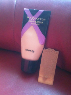 thelifeof-iamajx:  So this is my first review; MaXFactor Smooth Effect Foundation, I can honestly say that this is the best foundation I have ever used by far, I applied this last night and my skin looked flawless, it was crazy in an amazing way! I highly recommend this foundation if you want clearer looking skin!