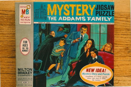 "The Addams Family Mystery Puzzle - ""Ghost At Large"" (1964)"