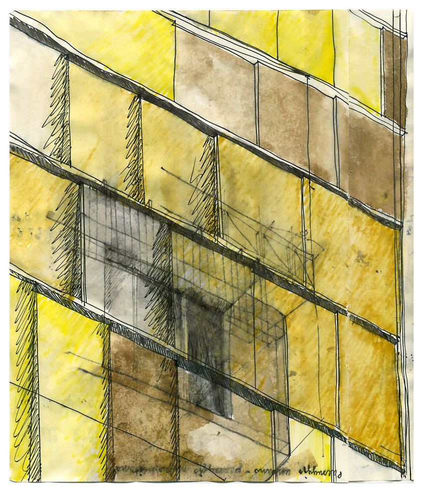 ARCHITECTURAL COLOR SKETCHES | 1232 | Beniamino Servino | SOURCE