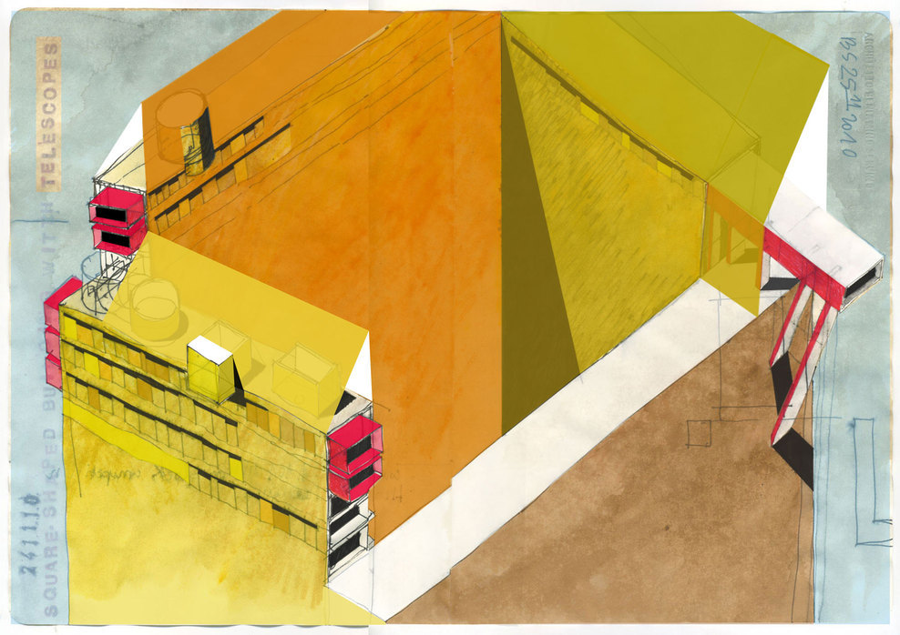 ARCHITECTURAL COLOR SKETCHES | 1234 | Beniamino Servino | SOURCE