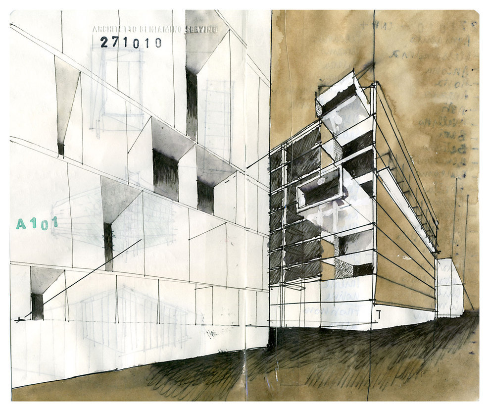 ARCHITECTURAL COLOR SKETCHES | 1235 | Beniamino Servino | SOURCE