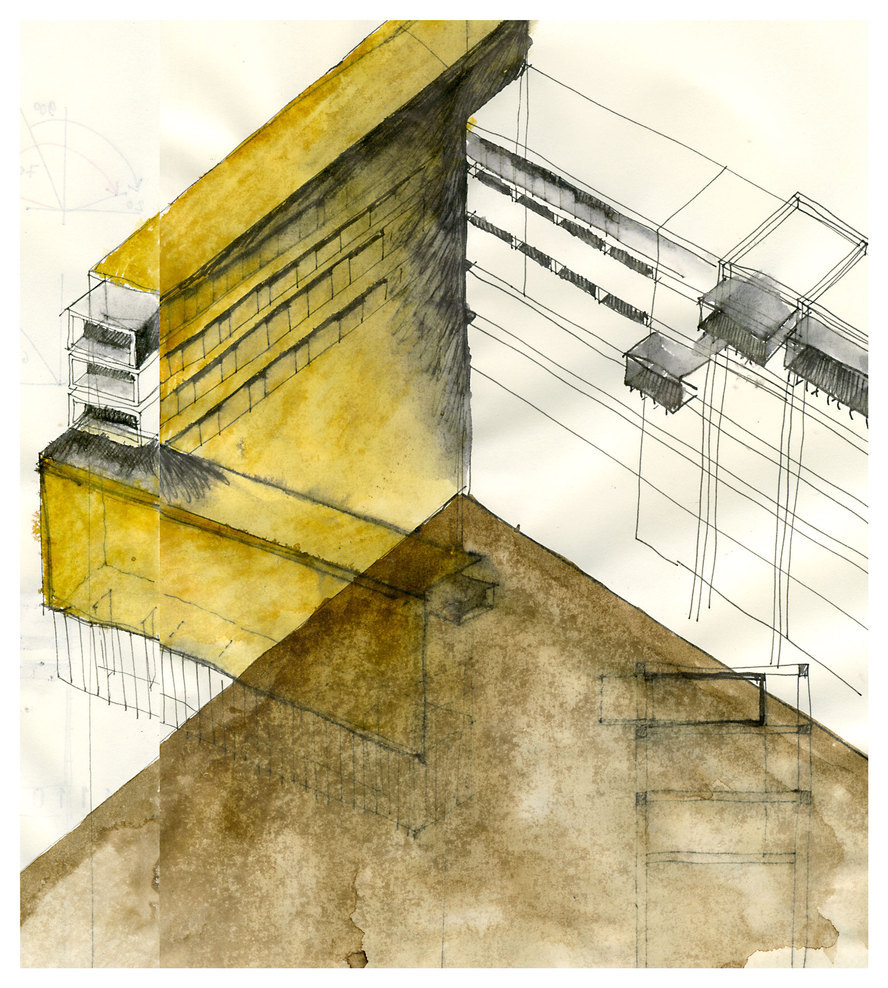 ARCHITECTURAL COLOR SKETCHES | 1236 | Beniamino Servino | SOURCE