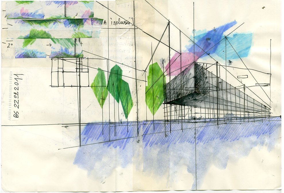 ARCHITECTURAL COLOR SKETCHES | 1240 | Beniamino Servino | SOURCE