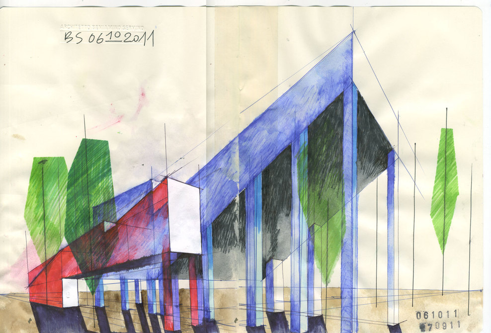 ARCHITECTURAL COLOR SKETCHES | 1242 | Beniamino Servino | SOURCE