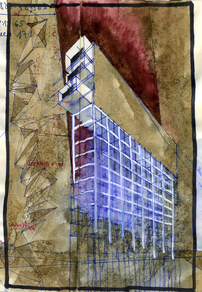 ARCHITECTURAL COLOR SKETCHES | 1244 | Beniamino Servino | SOURCE