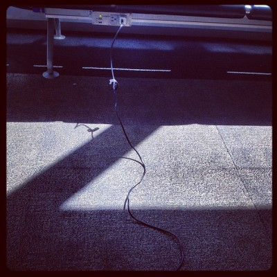 I love my 10 foot iPhone cable so much I'd marry it. (Taken with Instagram)