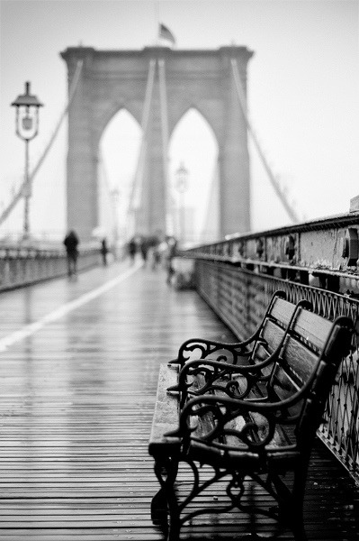 Classic Brooklyn Bridge by Randy Lemoine