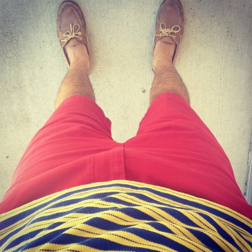 Red hot. #wiwt #prep #preppy #summer #fashion #style #menswear #iamwearing #whatiwore #lookingdown  (Taken with Instagram)