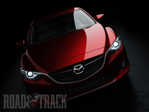 "The 2014 Mazda6 sedan will feature a SkyActiv-G 2.0-liter gas engine mated to a SkyActiv-Drive 6-speed automatic transmission. It will also feature ""I-ELOOP"", the world's first capacitor-based regenerative braking system that will improve fuel economy by up to 10 percent. (Source: Road & Track)"