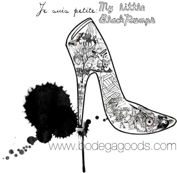 thousandsofwordsonepicture:  je suis petite: my little black pumps by bodegagoods on polyvore.com