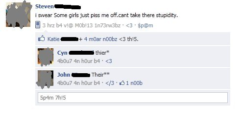 Yeah, girls are the stupid ones.