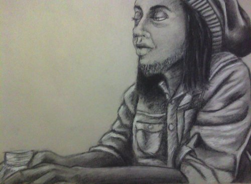 Khalid.Charcoal and chalk.