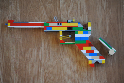 Lego Luger P-08 (Semi-Auto) Created by Elite Lego Guns