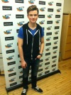 The very cool Chris Colfer from GLEE at Spreecast NYC. Yeah, we were starstruck. So what?! :)