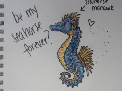 Seahorse for Joe! Prisma pencils!