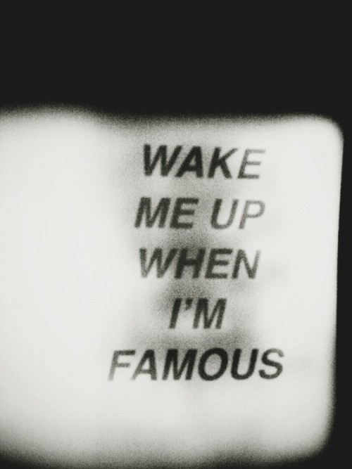 Dont wake me up up up up up..