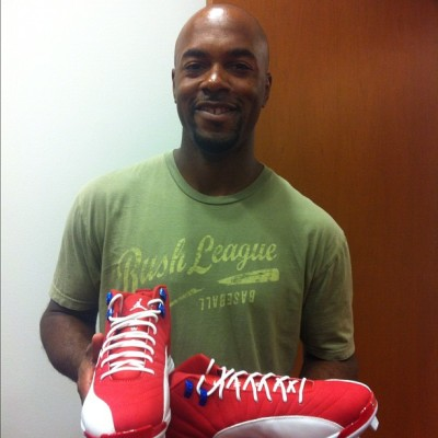 @jimmyrollins11 @jumpman23 winning combination. #riseabove (Taken with Instagram at Phillies Locker Room)