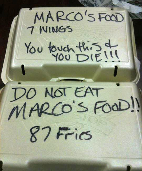 tastefullyoffensive:  Marco doesn't share food.[via]