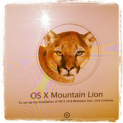 My new mountain lion for my #Mac  (Taken with Instagram)