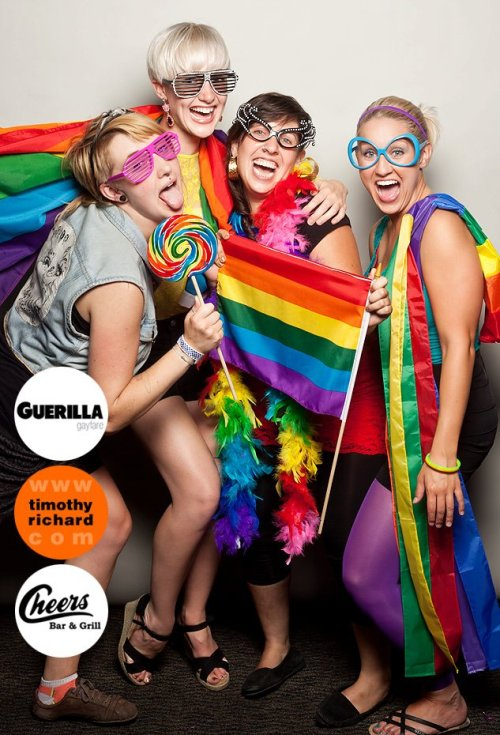 rightqueer:  So much rainbow. At Friday's Guerilla Gayfare takeover at Cheer's Bar in Halifax.