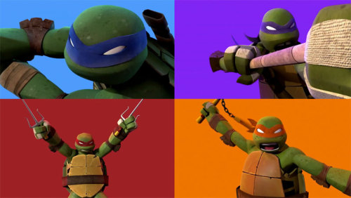 Despite what reservations I have with Nickelodeon's Teenage Mutant Ninja Turtles, that stylized look is beautiful. Read More: New 'Teenage Mutant Ninja Turtles' Promo Pays Tribute To Original Theme Song