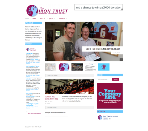 Iron Trust website finally live www.theirontrust.com