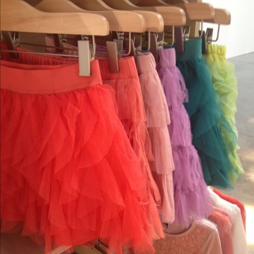 officialstyledotcom:  Adorable tutus @gap. ML (Taken with Instagram)