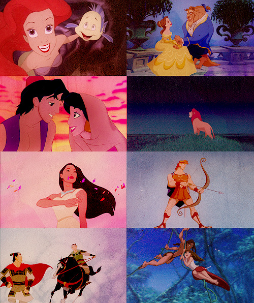 My favorite Disney era → The Disney Renaissance  4 out of my top 5 favorite Disney movies were created during the Renaissance. This is my childhood, and I don't plan on ever growing out of it.
