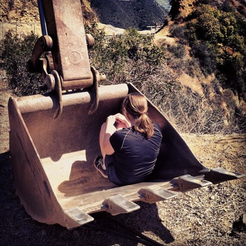Nobody puts baby in the bulldozer  (Taken with Instagram)