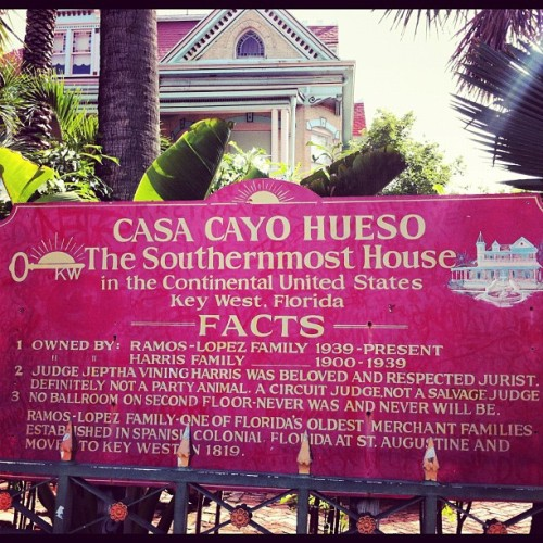 The Southernmost House  (Taken with Instagram at Key West, FL)