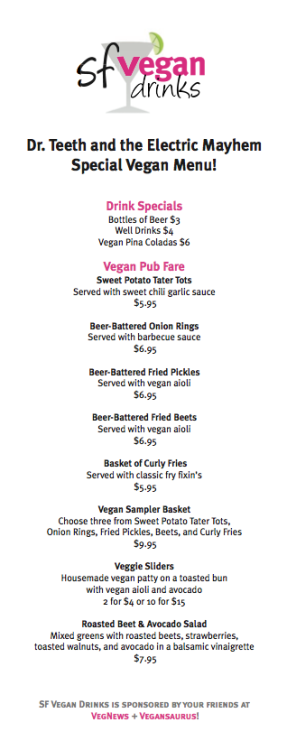 via the wonderful folks at vegnews:  The Vegan Drinks menu for tomorrow's San Francisco event already had us salivating. And what better way to wash down a basket of pickles or a platter of sliders than with vegan piña coladas?  WE DO!!! A bucket, an ENTIRE FUCKING BUCKET. Done and done! And done again!