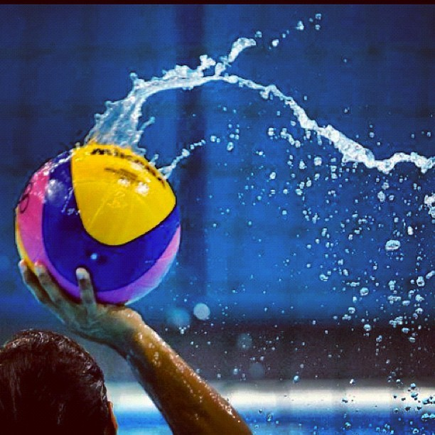 #waterpolo practice at #london2012 #olympics #water #sports (Taken with Instagram)