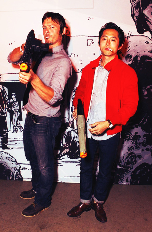 courtney-faith:  Norman Reedus and Steven Yeun