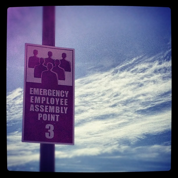 #emergency #sign #clouds #sky #sanjose  (Taken with Instagram)