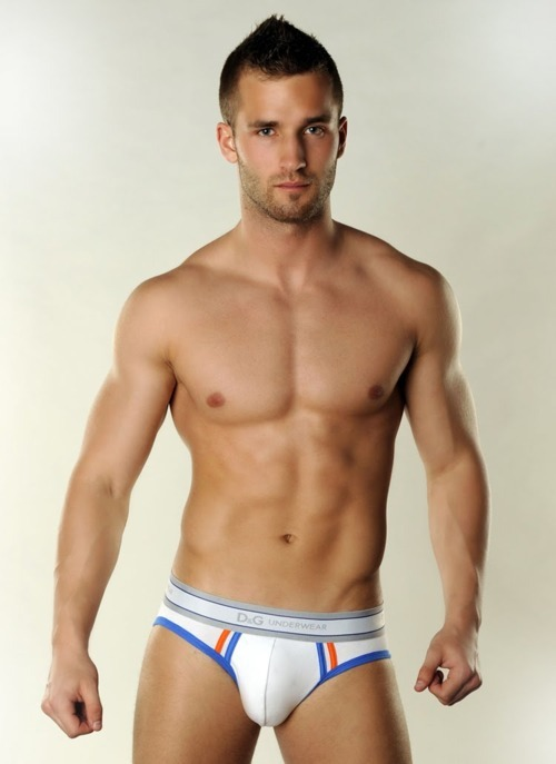 Check out the bulge in this sexy D&G underwear.