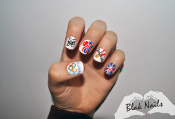 Team GB Olympic Nails.