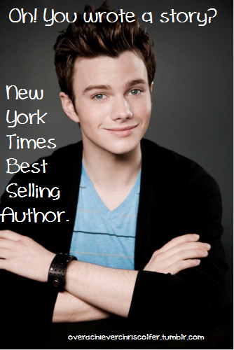 golden globe winner and new york time's best selling author chris colfer