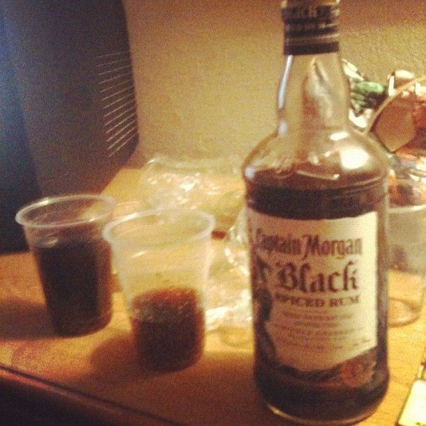 Rum night with @bizarbus. 😘 #Rum #Captain  (Taken with Instagram at Ohio)
