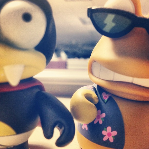 Bored at work…. #work #futurama #kidrobot #toy #vinyltoy  (Taken with Instagram)