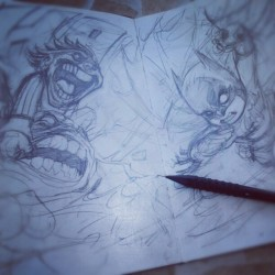 daynehenry:  Some moleskine get down #batman #joker #clayface #dccomics. #superhero. #moleskine. #pencil. #comics #sketch (Taken with Instagram)