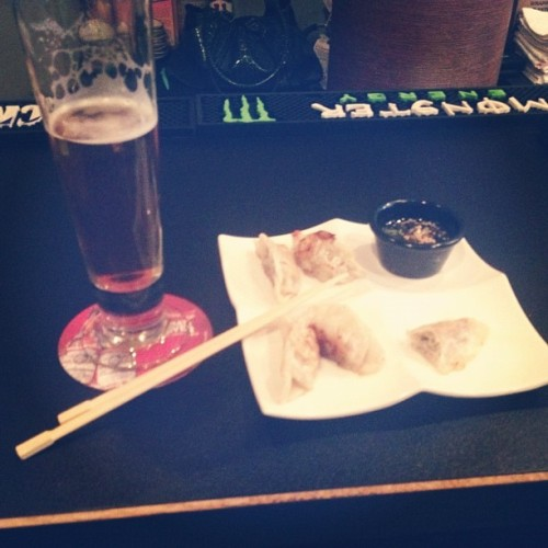 Imported beer and Asian food! Woohoo! (Taken with Instagram at Wasabi Sushi Bar)