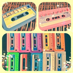 NEW COLORS! #iphone4 #cassette #tape #phonecase #phonecover #silicone #new #sale #etsy #custom #studs #spikes #moonshineapparel #ineedthis #shopnow $12.22 USD @ MoonShineApparel.etsy.com (Taken with Instagram)