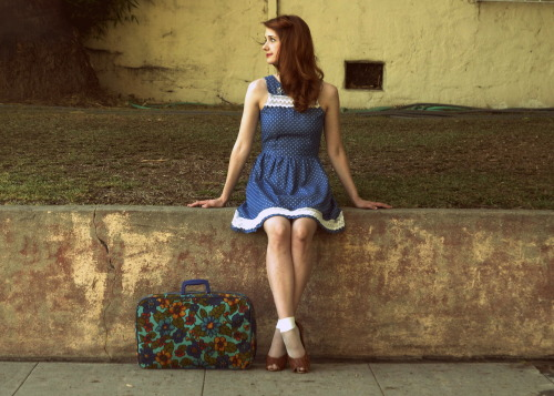 Away We Go (by Jane Bennet)<br /> Dress is from ModCloth -<br /> Fishnet Socks are from American Apparel -