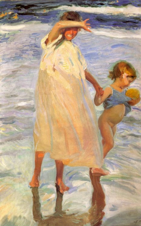 cavetocanvas:  Joaquín Sorolla y Bastida, The Two Sisters, 1909